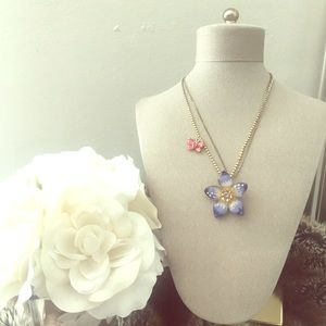Flower & Butterfly Necklace